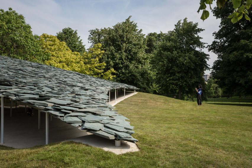 The 2019 Serpentine Pavilion was designed by Japanese architect Junya Ishigami