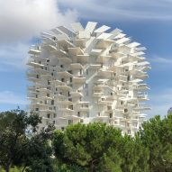 Balconies branch out from Sou Fujimoto's tree-like tower in Montpellier
