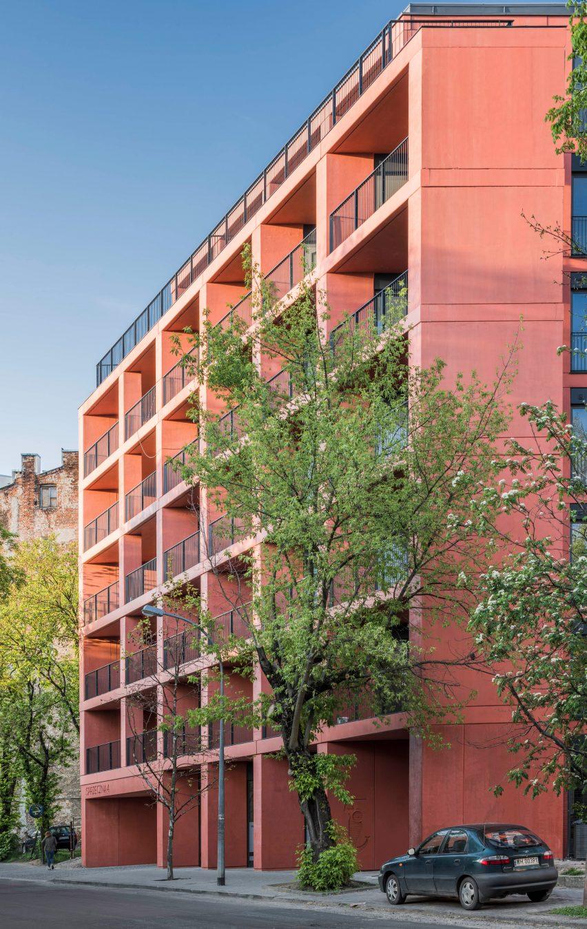 Sprzeczna 4 prefabricated housing by BBGK in Warsaw, Poland