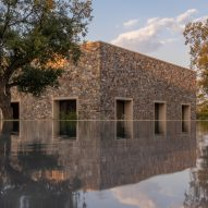 Tuñón Arquitectos' Casa de Piedra is formed of nine cube-shaped rooms