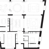 Ground floor plan of Stone House by Nomo Studio