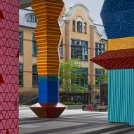 Climate-change data turned into colourful towering totems