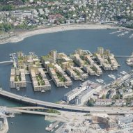 Waugh Thistleton designs eco-village in a lake to reinvigorate central Bergen
