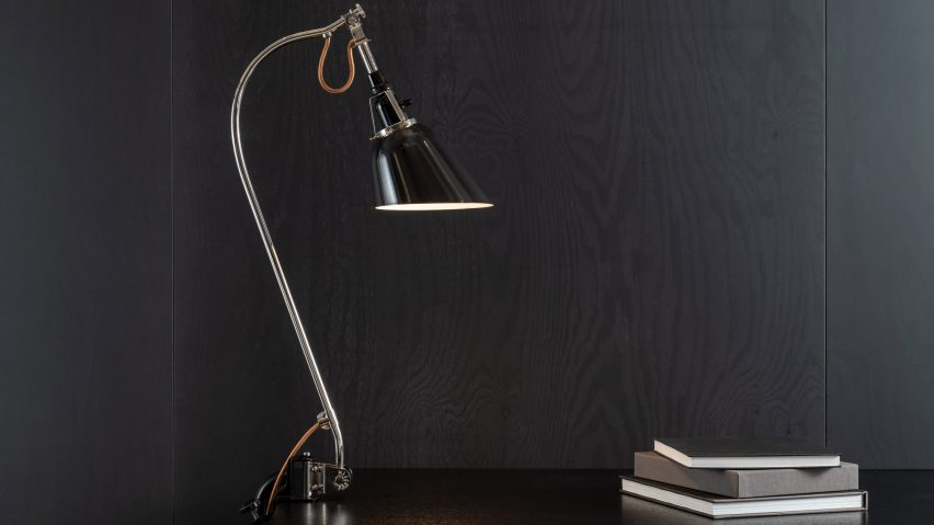 Adjustable lamp used by Walter Gropius and the Bauhaus school revived