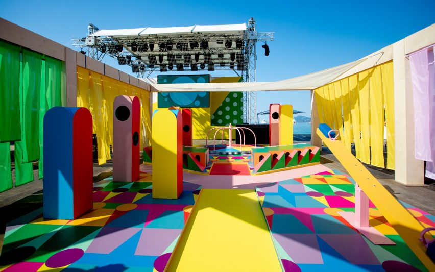 Colourful playground installation for Pinterest at Cannes Lions by Yinka Ilori