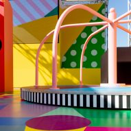 Yinka Ilori covers adult playground in Pinterest's most pinned colours at Cannes Lions