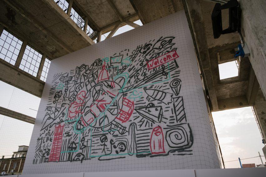 Carlo Ratti drone swarm graffiti Turin