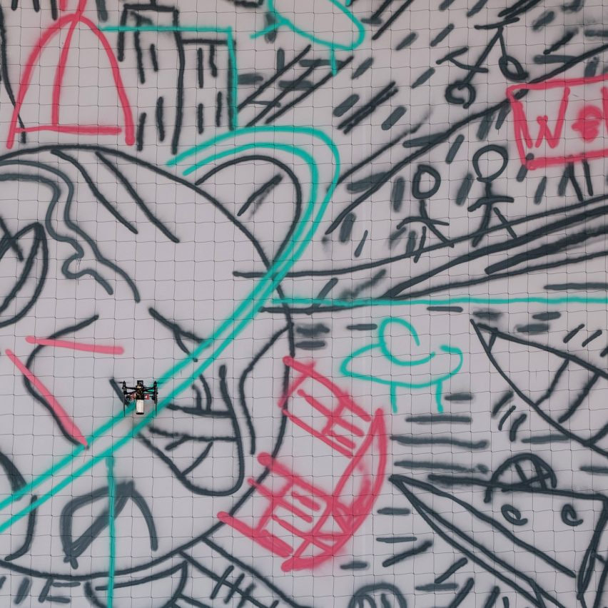 "Carlo Ratti uses drones to create ""world's first crowdsourced graffiti"""