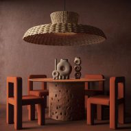 Ukrainian design brand Faina makes furniture from clay and flax