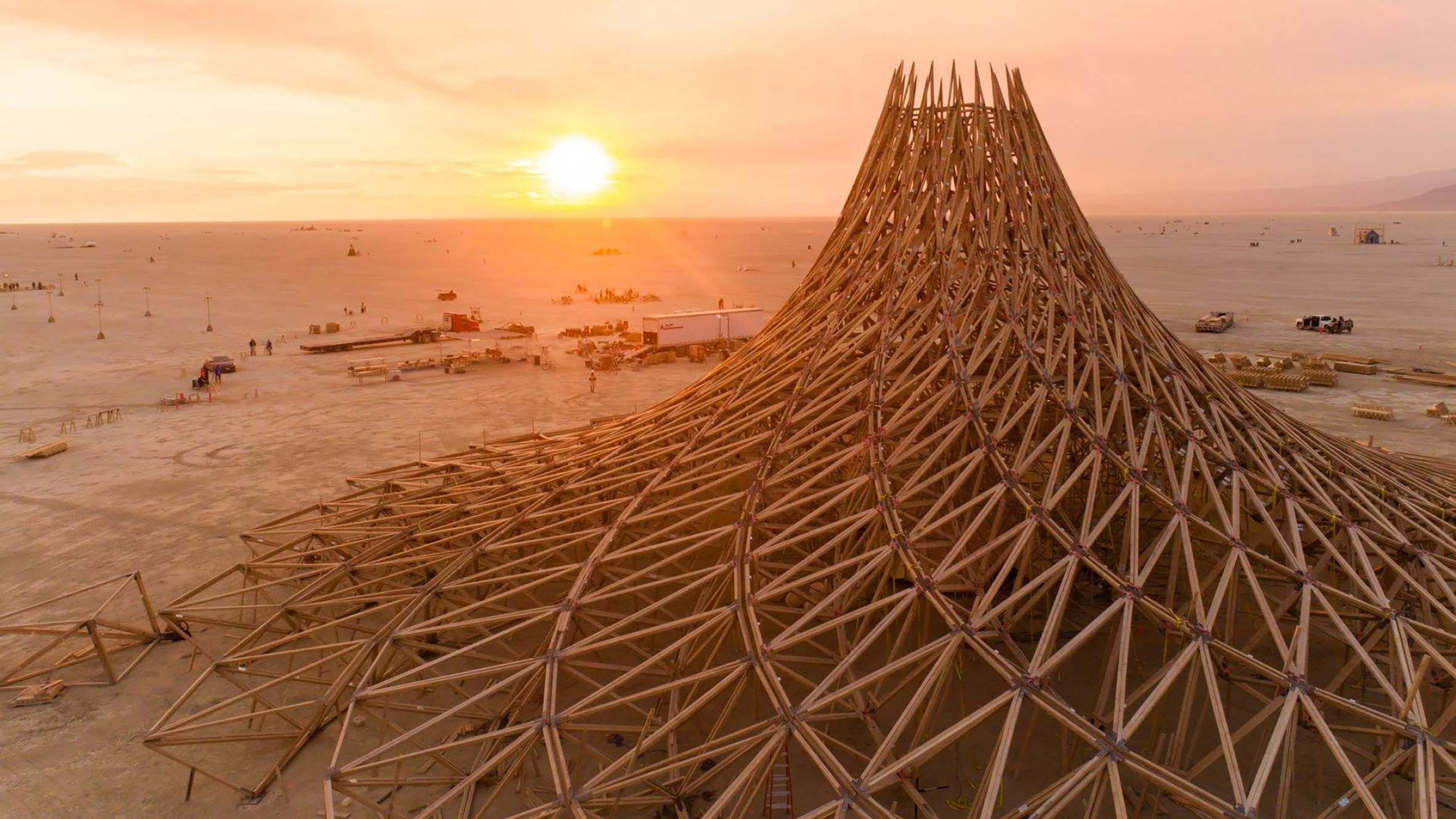 Galaxia temple at Burning Man festival by Mamou-Mani Architects