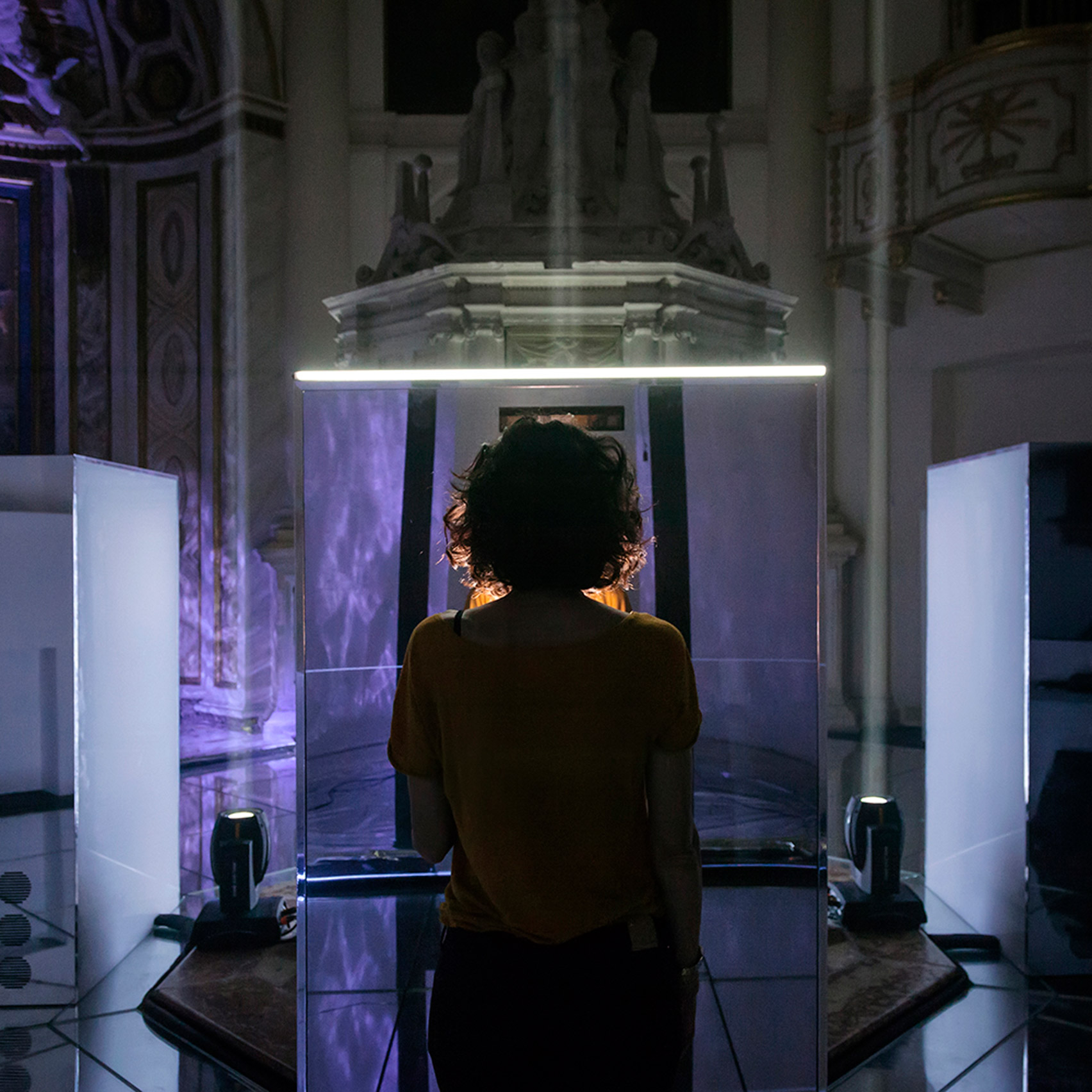 Ultravioletto's Neural Mirror shows audiences an AI reflection of themselves