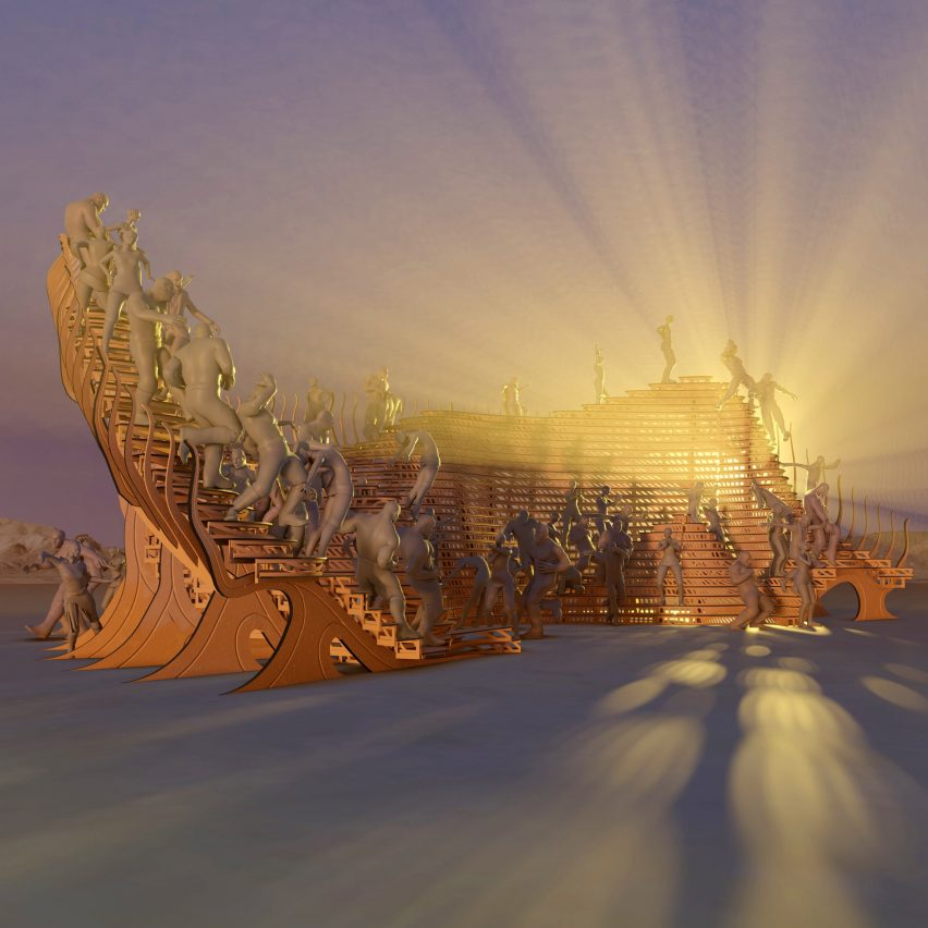 Playascape Burning Man festival pavilion by Atmos Studio