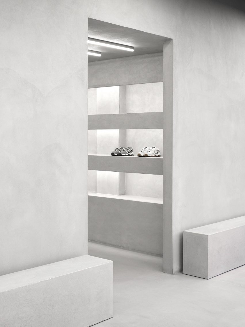 Axel Arigato Copenhagen flagship store, designed in collaboration with Christian Halleröd