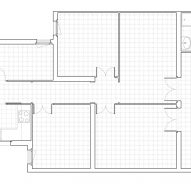 First floor plan of Caldrap Barcelona Apartment by Nook Architects