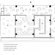 Lower floor plan of Chongqing Zhongshuge Bookstore by X+Living