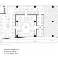 Upper floor plan of Chongqing Zhongshuge Bookstore by X+Living