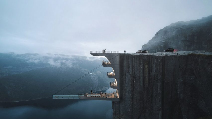 Cliff Concept Boutique Hotel by Hayri Atak Architectural Design Studio in Norway