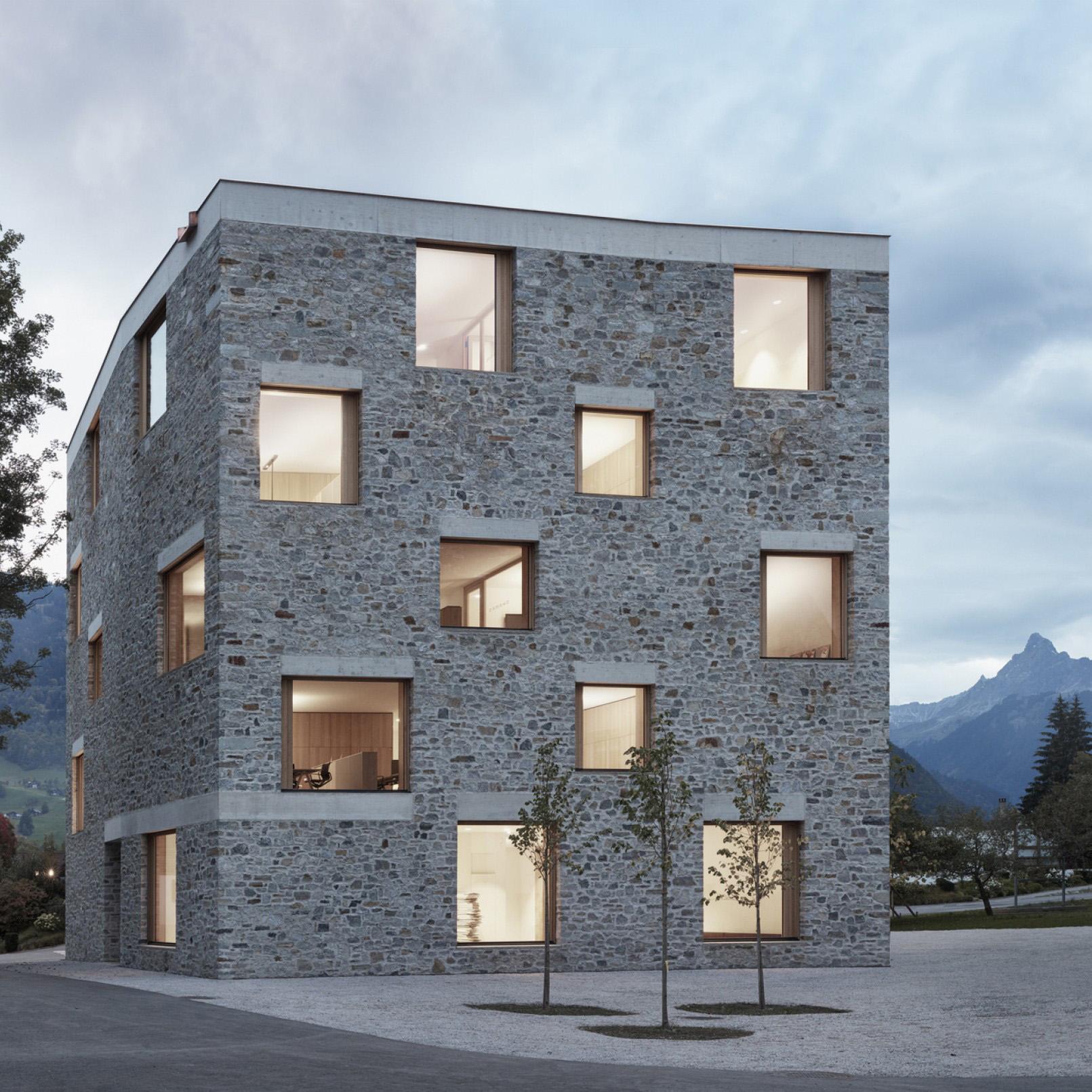 Dezeen Awards 2019 longlist - Alpin Sport, Schruns, Austria, by Bernardo Bader Architekten