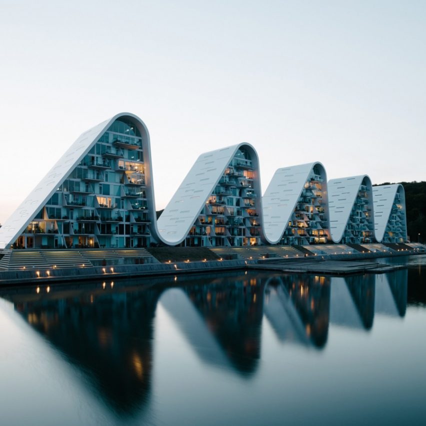 Dezeen Awards 2019 longlist - The Wave, Vejle, Denmark, by Henning Larsen