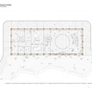 Ground floor classroom plan of El Til-ler Kindergarten School by Eduard Balcells, Ignasi Rius and Daniel Tigges