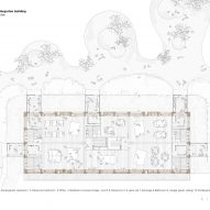 First floor classroom plan of Ground floor classroom plan of El Til-ler Kindergarten School by Eduard Balcells, Ignasi Rius and Daniel Tigges
