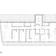 Attic floor plan of Elcano Housing Block by FRPO