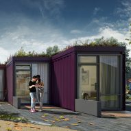 Shipping-container micro homes with green roofs planned for UK