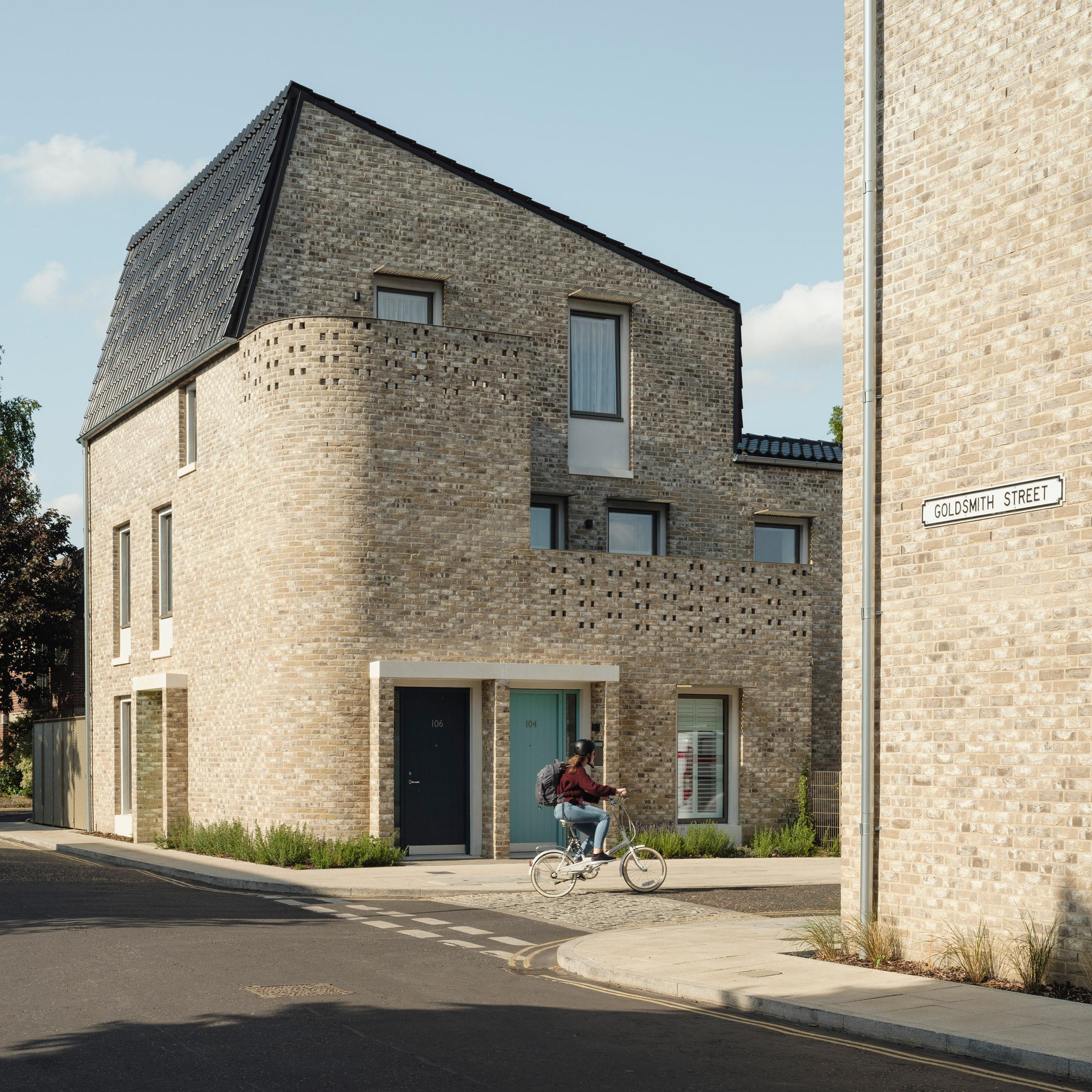 Brick social housing in Norfolk