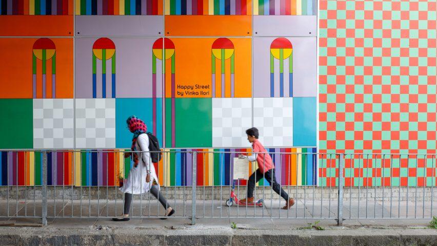 "Yinka Ilori transforms ""forbidding"" London bridge into Happy Street installation"