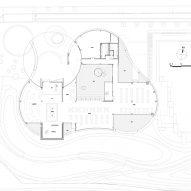 Ground floor plan of Hefei RIver Central Smart Garden Library by Geedesign
