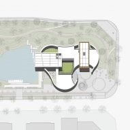 Site plan of Hefei RIver Central Smart Garden Library by Geedesign