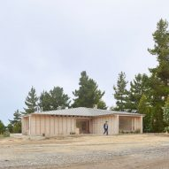 Pale wood blends Cristián Izquierdo Lehmann's Chilean house into sandy surrounds