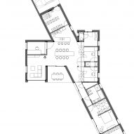 Ground floor plan of House TL by WE-S WES Architecten