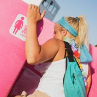 Lapee female urinal designed to reduce festival loo queues