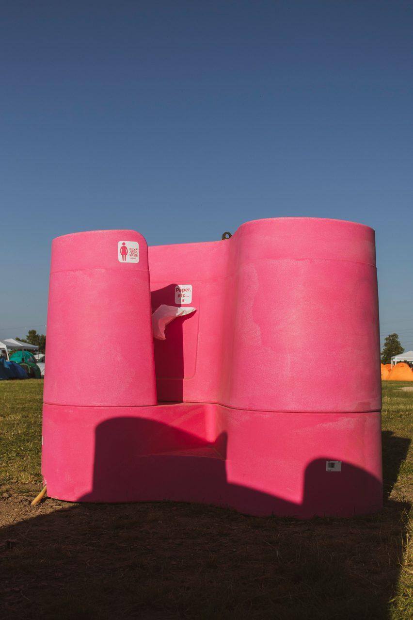 Lapee female urinal designed to reduce festival loo queues