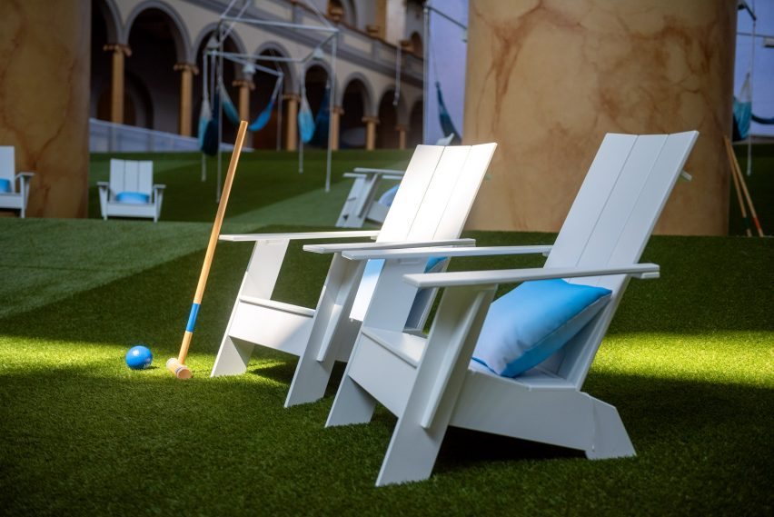 Lawn installation by Rockwell Group at Washington DC's National Building Museum