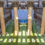 Rockwell Group builds sloped Lawn in Washington DC's National Building Museum