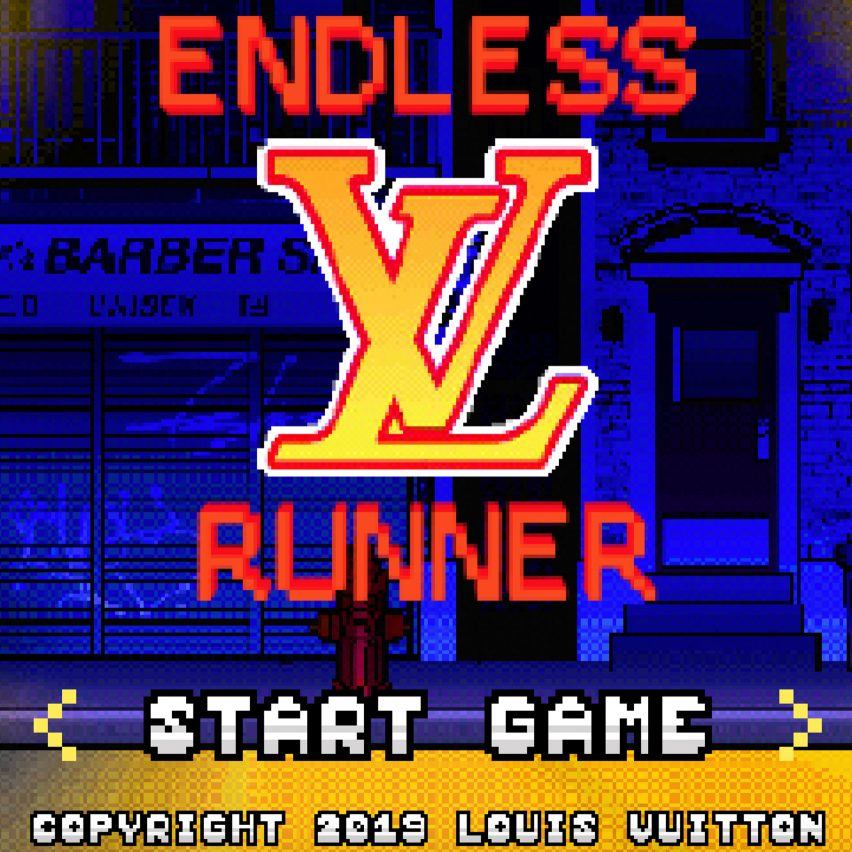 Explore New York with Virgil Abloh and Louis Vuitton's retro video game Endless Runner