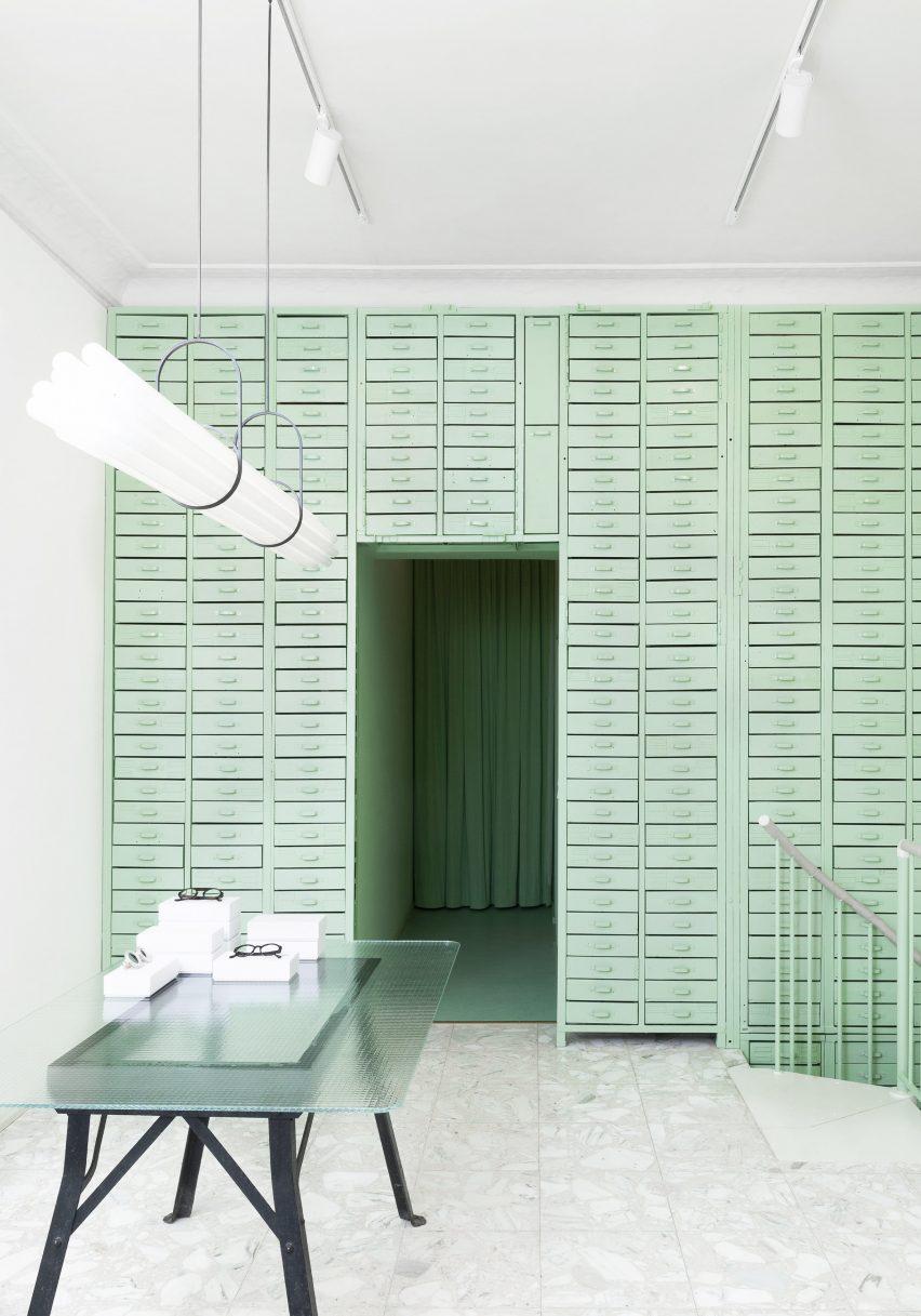 Lunettes Selection shop in Berlin designed by Oskar Kohnen Studio