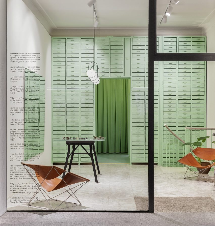 Lunettes Selection shop in Berlin designed by Oskar Kohnen Studio