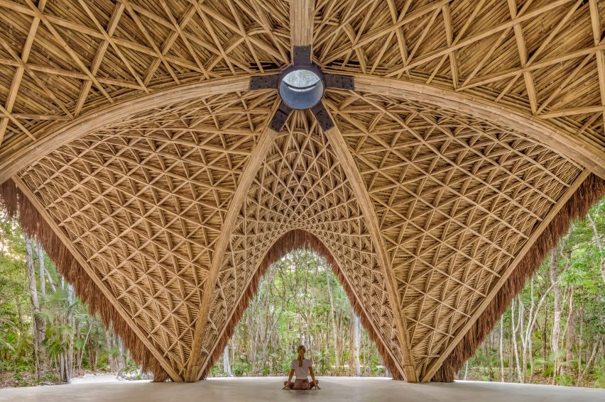 CO-LAB Design Office creates bamboo yoga pavilion in Tulum