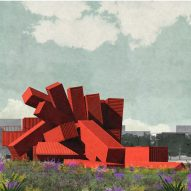 Dixon Jones designs sculptural shipping-container building for Edinburgh