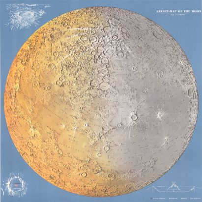 Moon landing: Mapping of the Moon: 1669-1969 at The Map House