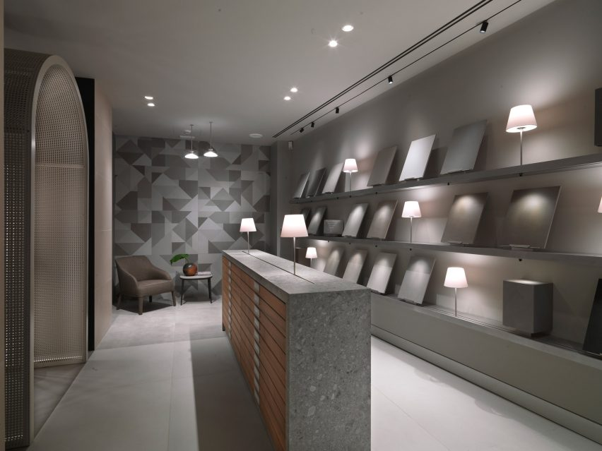 Marazzi showroom in Milan, designed by Antonio Citterio and Patricia Viel
