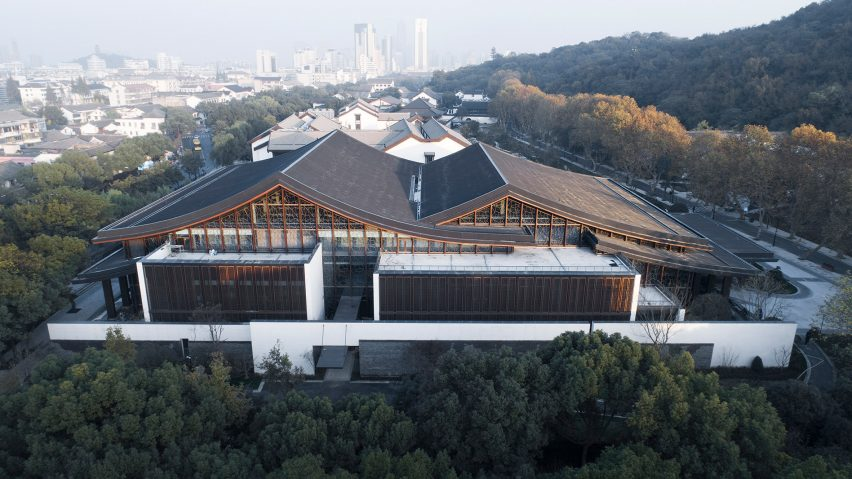 Detail of Multi-purpose hall in Shaoxing Hotel by Architectural Design and Research Institute at Zhejiang University UAD
