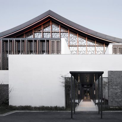 Multi-purpose hall in Shaoxing Hotel by Architectural Design and Research Institute at Zhejiang University UAD