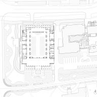 Ground floor plan of Detail of Multi-purpose hall in Shaoxing Hotel by Architectural Design and Research Institute at Zhejiang University UAD