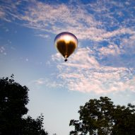 Doug Aitken's mirrored balloon New Horizon flies over Massachusetts