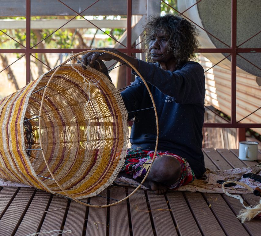 Koskela keeps indigenous weaving traditions alive with Ngalya lamp collection