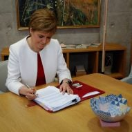 Scotland's first minister prioritises design with rotating exhibition